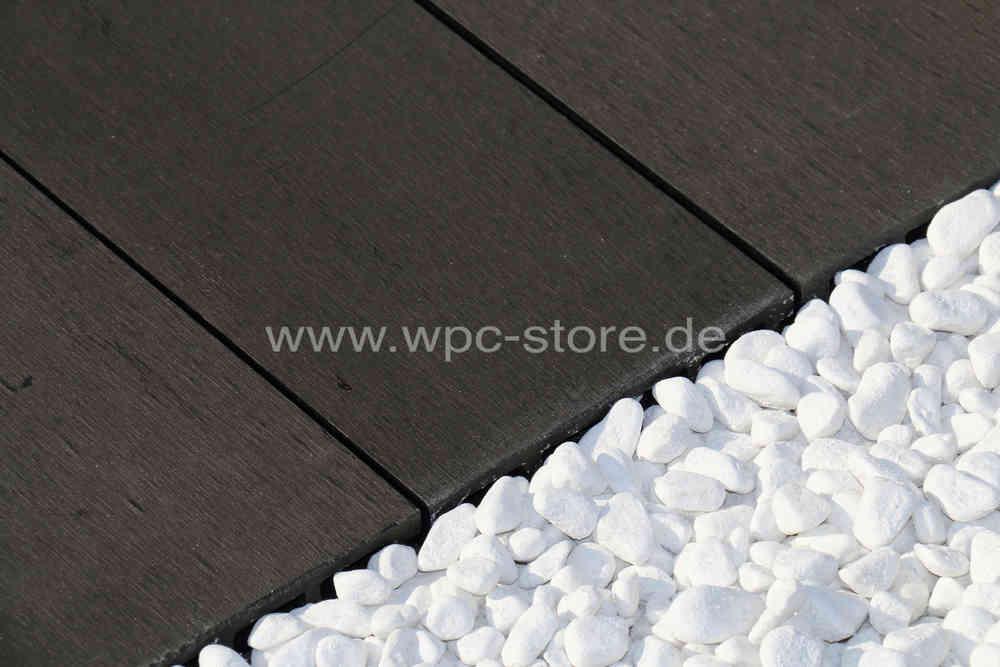 Großartig WPC Terrassendielen Komplettset Anthrazit glatt (400x15x2,5cm  JJ95