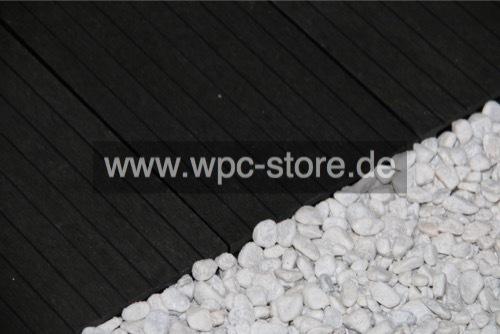 Wpc Terrassendielen Komplettset Anthrazit Weit Geriffelt 400x15x2