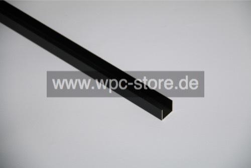 aluminium anthrazit u profil f r selbstbauzaun 200x2 8x2. Black Bedroom Furniture Sets. Home Design Ideas