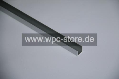 Aluminium U Profil Fur Selbstbauzaun 200x2 8x2 5cm Wpc Store